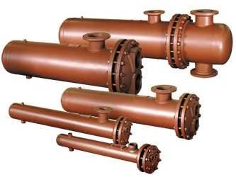 Picture of DS12242A-CI-125/150 , DOUBLE WALL STEAM TO WATER U-TUBE HEAT EXCHANGER