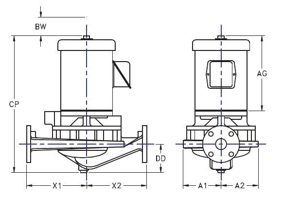 Picture of 1.5x1.5x7-HTV2g-7.5 , HTV2G IN-LINE CENTRIFUGAL PUMPS - 3500 RPM