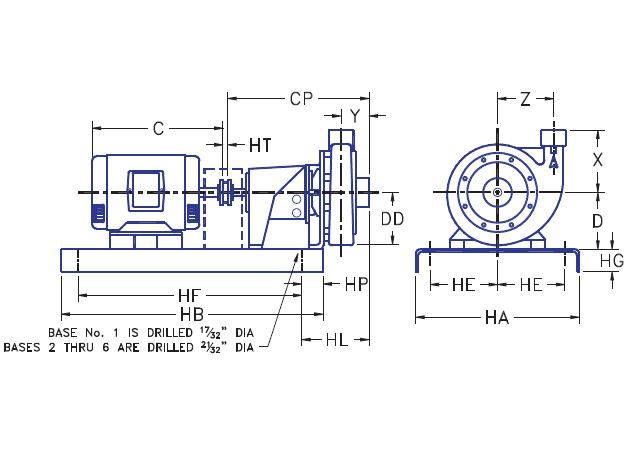 Picture of 1.25x2x7-HPF2g-10 , HPF2G BASE MOUNTED PUMPS - 3500 RPM