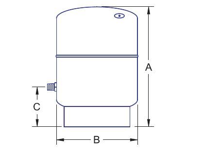 Picture of 1441-160 , N & NV SERIES EXPANSION TANKS (NON-ASME)