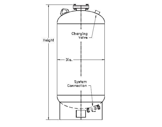 Picture of 181-41 , FXA SERIES HYDROPNEUMATIC TANKS (ASME)