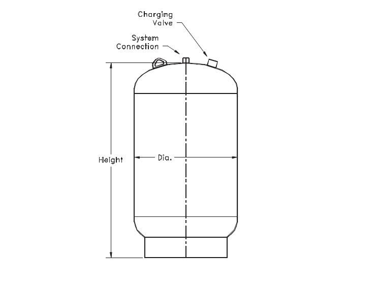 Picture of 147-100 , TTA SERIES THERMAL EXPANSION TANKS (ASME)