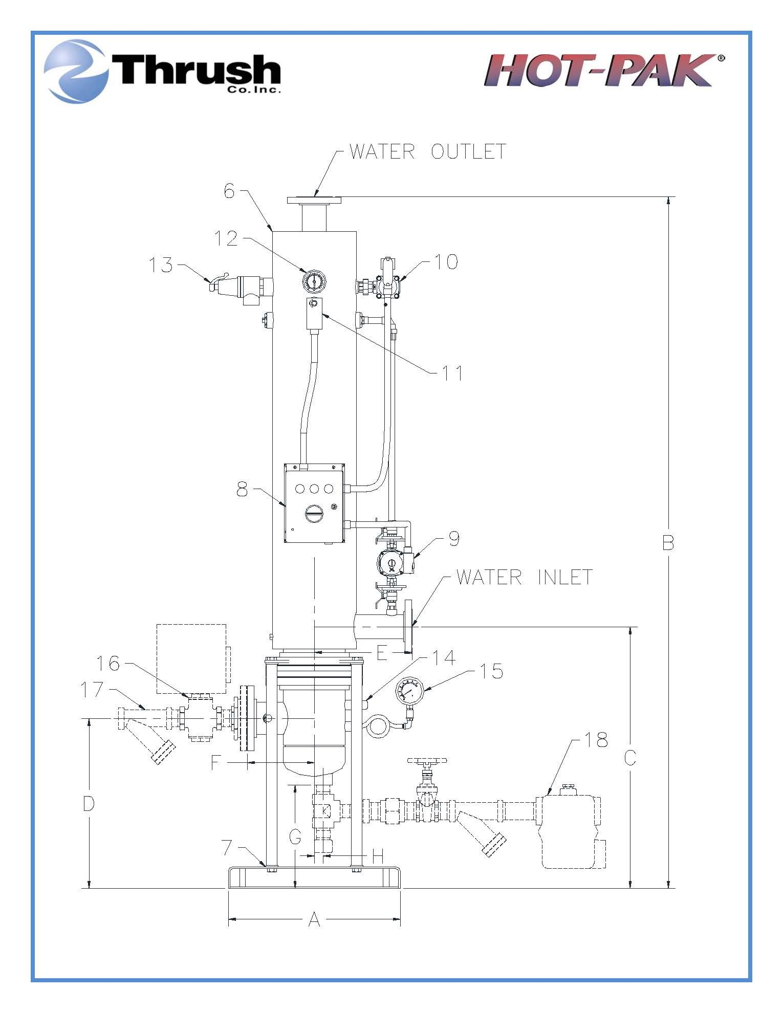 Picture of DSVE1232 , HOT-PAK™ SEMI-INSTANTANEOUS WATER HEATER-DSVE SERIES