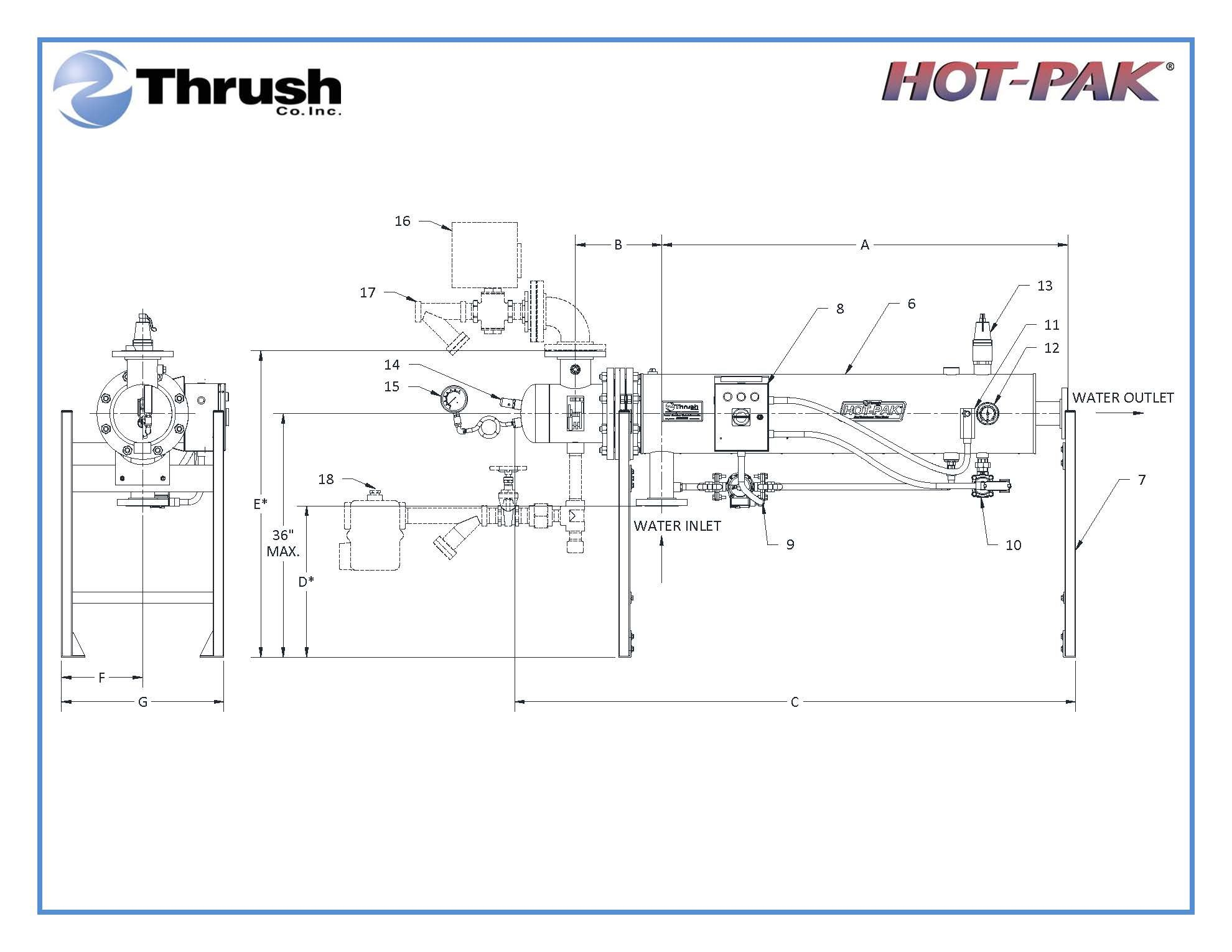 Picture of DSHE1242 , HOT-PAK™ SEMI-INSTANTANEOUS WATER HEATER-DSHE SERIES