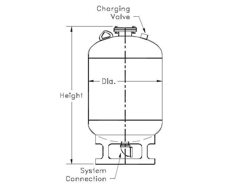 Picture of 183-15 , FXA SERIES HYDROPNEUMATIC TANKS (ASME)